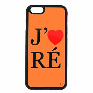COQUE J'AIME RÉ FOND ORANGE